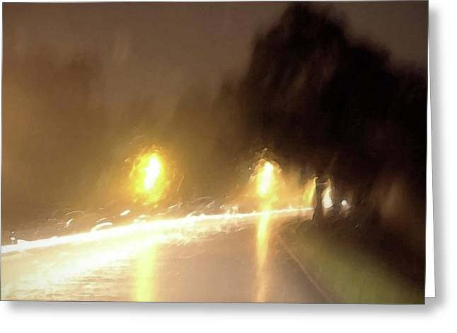 Stormy Weather Digital Greeting Cards - Stormy Night Greeting Card by Glennis Siverson