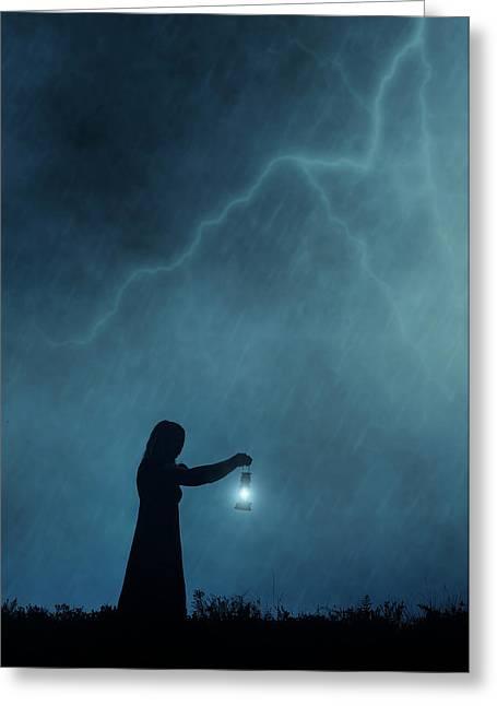 Stormy Night Greeting Card by Joana Kruse