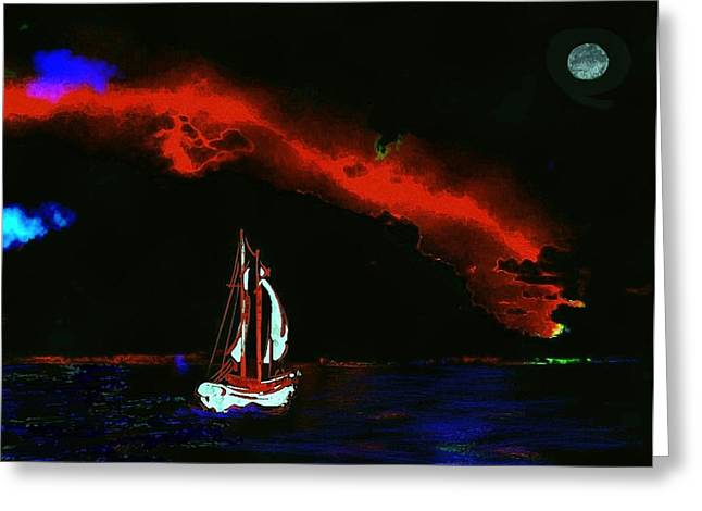 stormy night Greeting Card by Mimo Krouzian