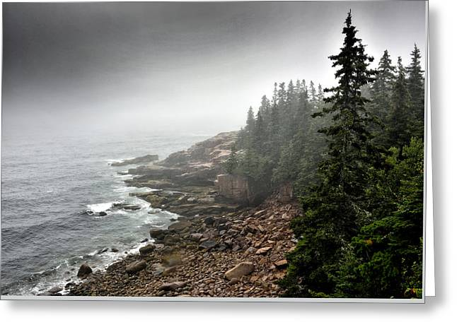 Coastal Maine Greeting Cards - Stormy North Atlantic Coast - Acadia National Park - Maine Greeting Card by Brendan Reals