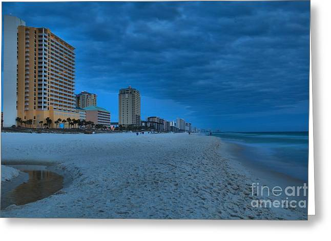Panama City Beach Greeting Cards - Stormy On The Gulf Coast Greeting Card by Adam Jewell