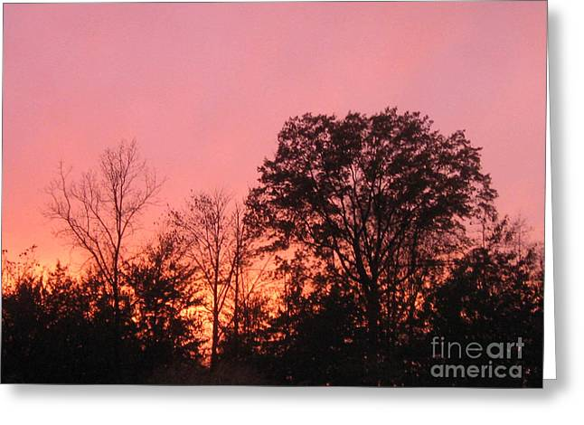 Abstract Expressionist Photographs Greeting Cards - Stormy Red At Dusk Greeting Card by John Krakora