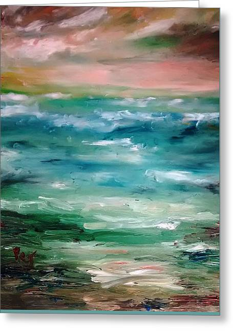 Stormy Sea Greeting Card by Patricia Taylor