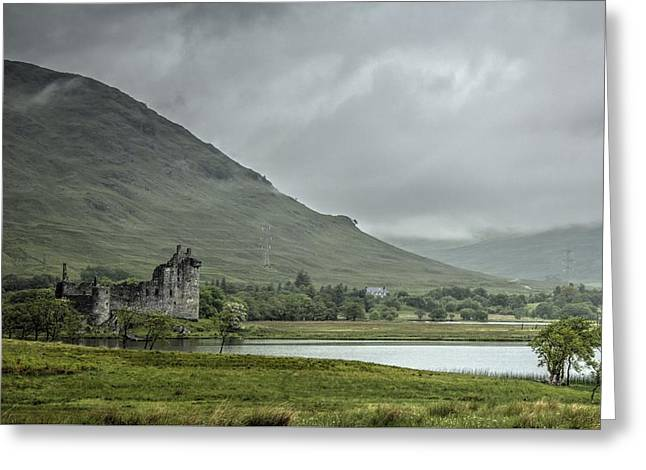 Kilchurn Castle Greeting Cards - Stormy Skies Greeting Card by Chris Whittle