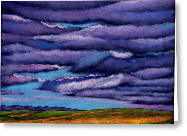 Southwestern Landscape Greeting Cards - Stormy Skies Over the Prairie Greeting Card by Johnathan Harris