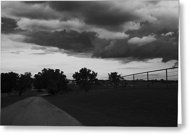 Storm Framed Prints Greeting Cards - Stormy Skies Greeting Card by Toni Hopper