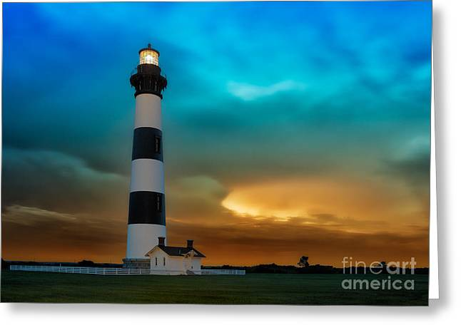 Storm Framed Prints Greeting Cards - Stormy Sunrise Greeting Card by Dan Carmichael