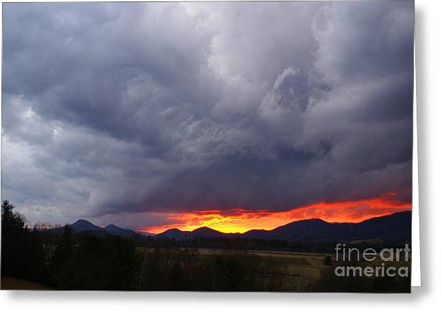 Storm Prints Digital Greeting Cards - Stormy Sunset Greeting Card by Annlynn Ward