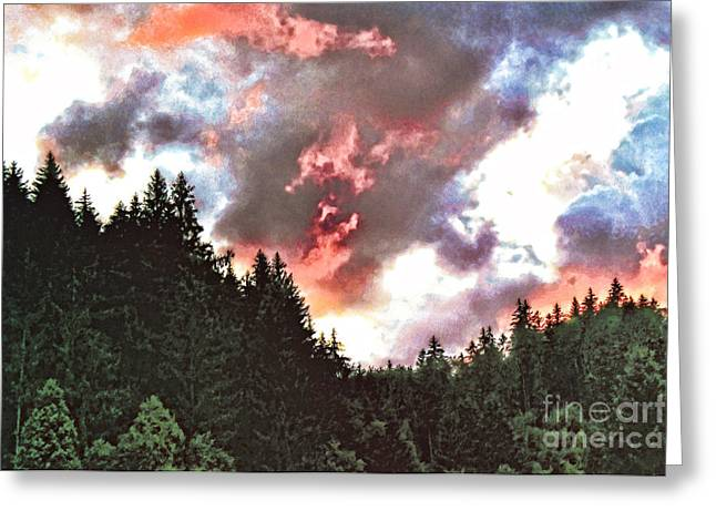 Sunset Posters Greeting Cards - Stormy Sunset  Greeting Card by GabeZ Art