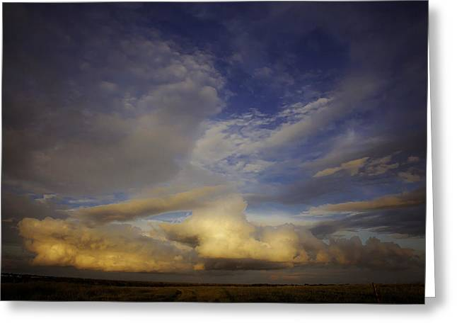 Storm Prints Photographs Greeting Cards - Stormy Sunset Greeting Card by Toni Hopper