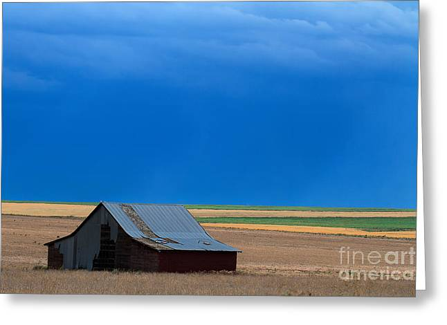 Old Barns Greeting Cards - Stormy Weather Greeting Card by Jim Garrison