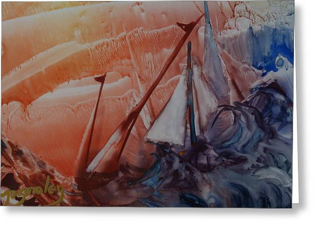 Swishes Greeting Cards - Stormy Weather Greeting Card by Joanne Smoley