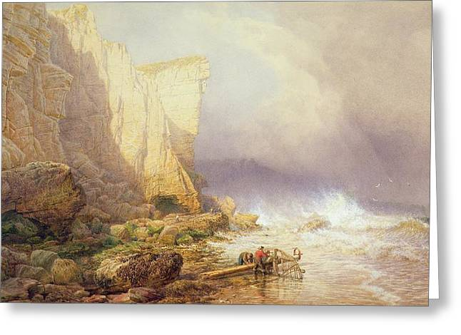 Devon Greeting Cards - Stormy Weather Greeting Card by John Mogford
