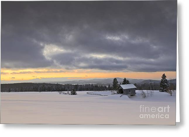 March Greeting Cards - Stormy Winter Landscape Greeting Card by Alan L Graham