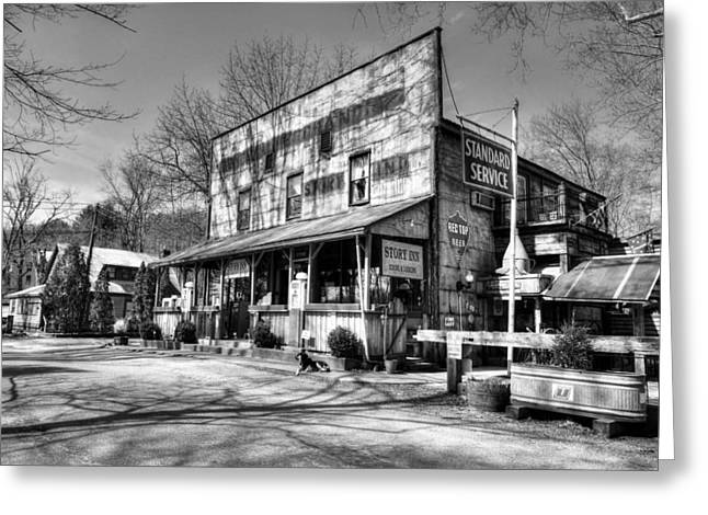 Southern Indiana Photographs Photographs Greeting Cards - Story Time In Indiana BW Greeting Card by Tri State Art