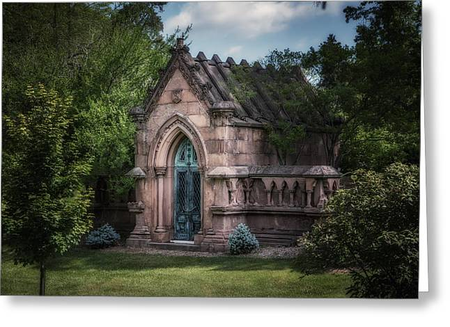 Greeting Cards - Strader Mausoleum Greeting Card by Tom Mc Nemar