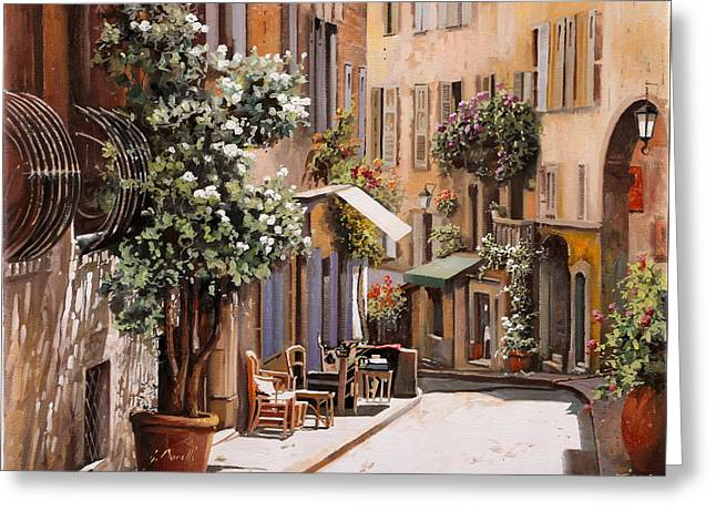 stradina di Grasse Greeting Card by Guido Borelli