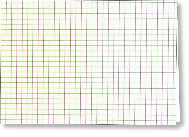 Cushion Greeting Cards - Straight Lines Greeting Card by Lena Kouneva