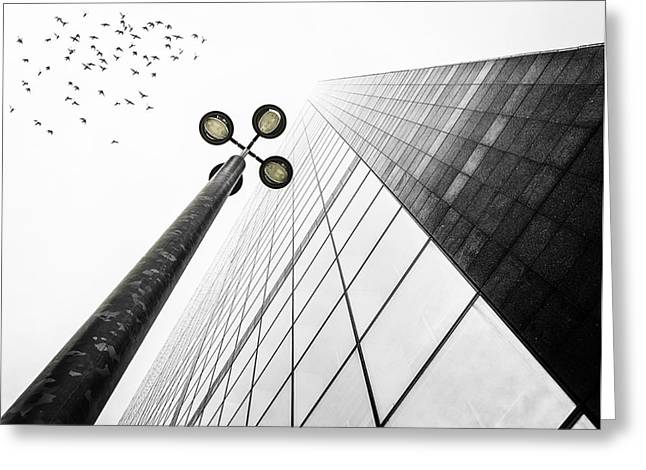 Paris Buildings Greeting Cards - Straight To The Sky Greeting Card by Em-photographies