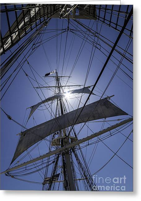 Tall Ships Greeting Cards - Straight Up Greeting Card by Joe Geraci
