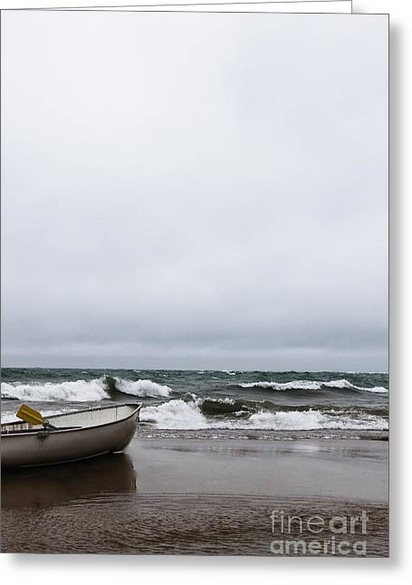 Row Boat Greeting Cards - Stranded Greeting Card by Margie Hurwich