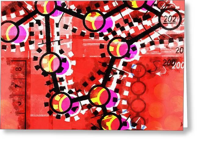Technical Digital Art Greeting Cards - Strange Dreams IV Greeting Card by Edward Fielding