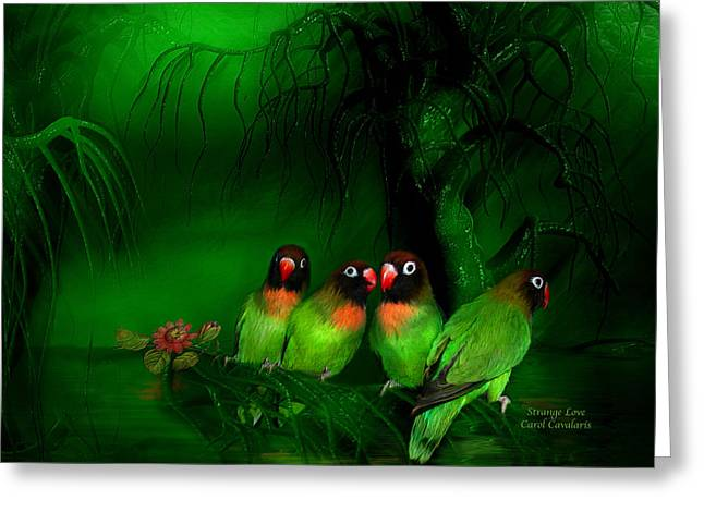 Strange Love Greeting Card by Carol Cavalaris