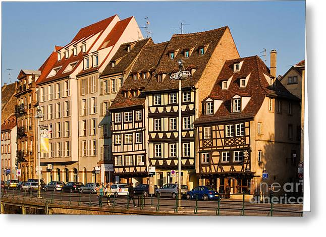 Medieval City Greeting Cards - Strasbourg Greeting Card by Louise Heusinkveld