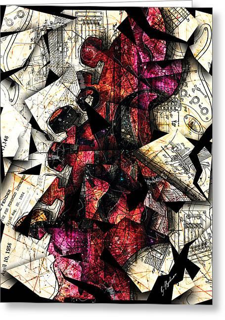 Stratavaria Moderna 01 Greeting Card by Gary Bodnar