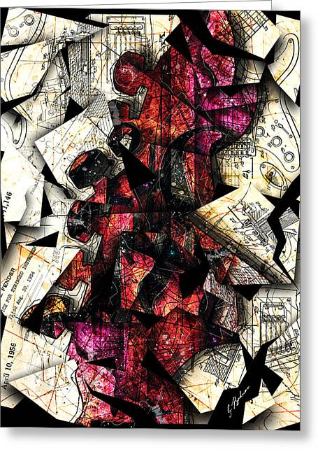 Music Print Greeting Cards - Stratavaria Moderna 01 Greeting Card by Gary Bodnar