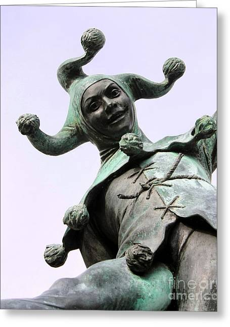 Terri Waters Greeting Cards - Stratfords Jester Statue Greeting Card by Terri  Waters