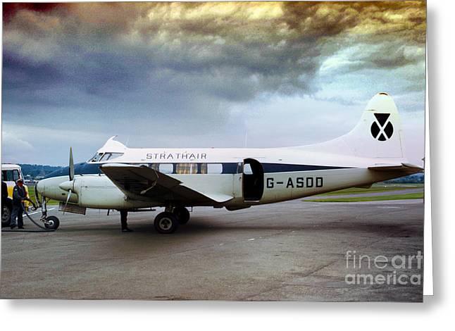 Strathair De Havilland Dh.104 Dove G-asdd Greeting Card by Wernher Krutein