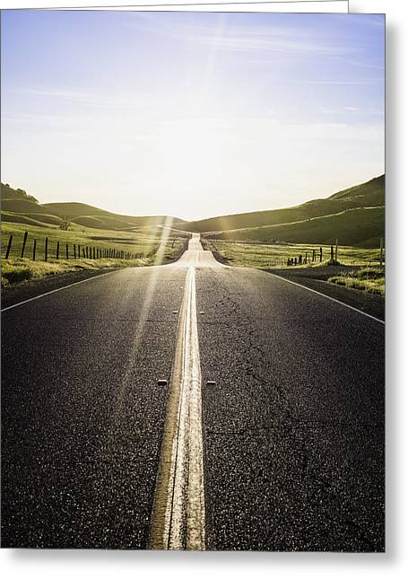 Sutter Street Greeting Cards - Into The Sun Greeting Card by Blake Westmoreland
