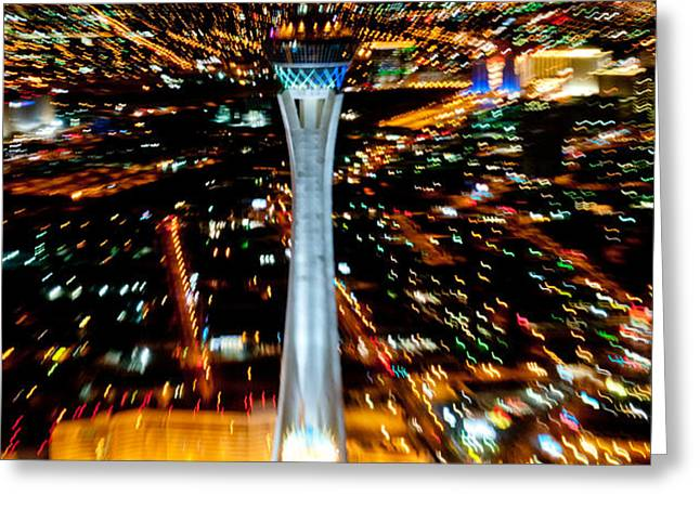 Stratosphere Zoom Greeting Card by Andy Smy