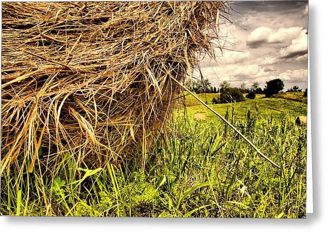 Hay Bales Greeting Cards - ..straw... Greeting Card by Russell Styles