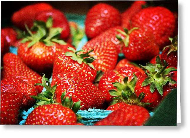 Strawberries Greeting Card by Cathie Tyler