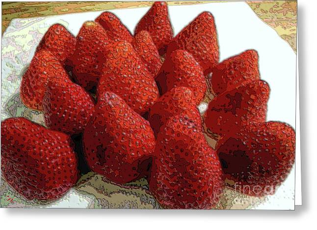 Food Digital Art Greeting Cards - Strawberries On Steroids Greeting Card by Ron Bissett