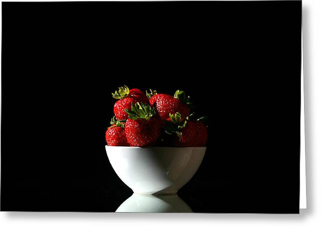 Mikeledray Greeting Cards - Strawberries still life Greeting Card by Michael Ledray