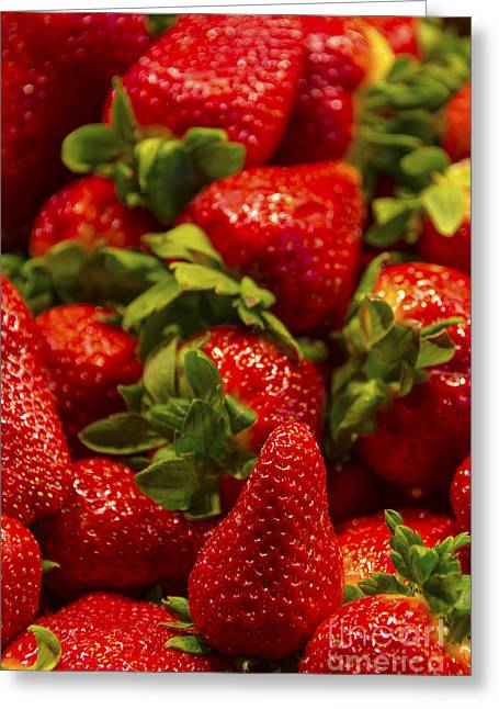 Strawberry Bunch Greeting Cards - Strawberries Greeting Card by Svetlana Sewell