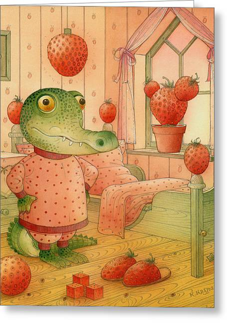 Strawberries Greeting Cards - Strawberry Day Greeting Card by Kestutis Kasparavicius