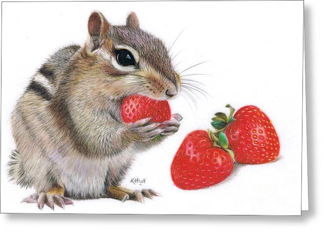 Strawberry Delight Greeting Card by Karen Hull