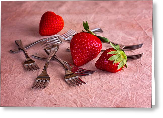 Strawberry Delight Greeting Card by Tom Mc Nemar