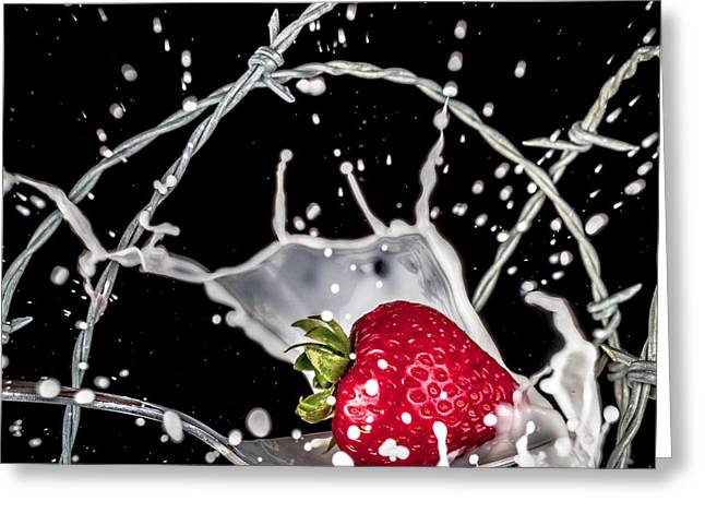 Strawberry Extreme Sports Greeting Card by TC Morgan