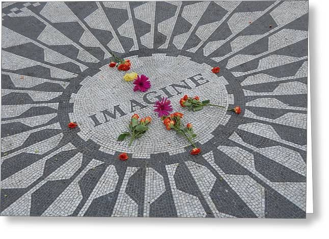 Recently Sold -  - Kelly Greeting Cards - Strawberry Fields Central Park Greeting Card by Jim Ramirez
