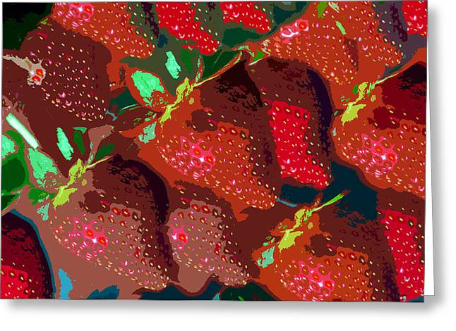 Strawberry Digital Greeting Cards - Strawberry fields forever Greeting Card by David Lee Thompson