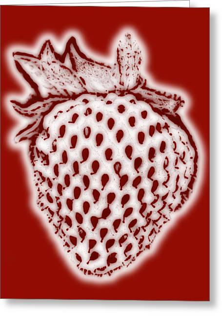 Strawberry Greeting Card by Frank Tschakert