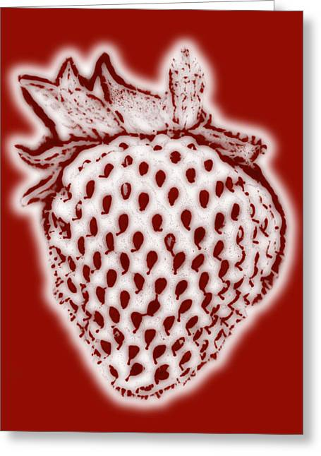 Strawberry Paintings Greeting Cards - Strawberry Greeting Card by Frank Tschakert