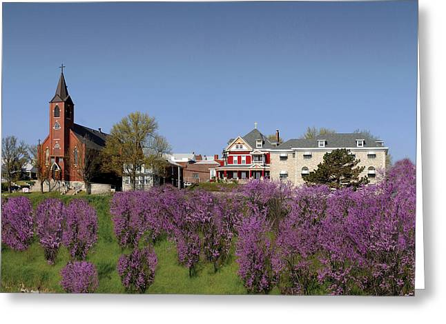 Strawberry Hill Greeting Card by Don Wolf