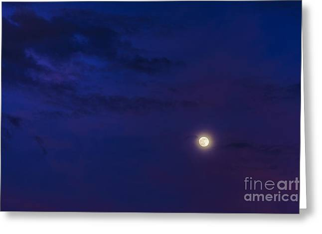 Heavenly Sunset Greeting Cards - Strawberry Moon  Greeting Card by Thomas R Fletcher