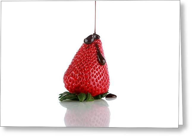 Michael Sweet Greeting Cards - Strawberrys and Chocolate Greeting Card by Michael Ledray